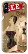 Vintage Corset Ad 1890 IPhone Case