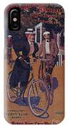 Vintage Cycle Poster March Davis Cycle 100 Dollars IPhone Case