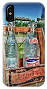 Vintage Double Dot Wooded Pepsi Carrier IPhone Case