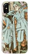 Vintage Fashion Plate Twenties Sporting Outfits IPhone Case