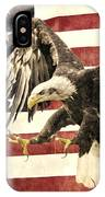 Vintage Flag With Eagle IPhone Case