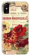 Vintage Flower Seed Cover Paris Rare IPhone Case