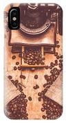 Vintage Grinder With Sacks Of Coffee Beans IPhone Case