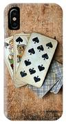 Vintage Hand Of Cards IPhone Case