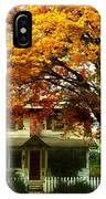 Vintage Home In Autumn IPhone Case