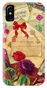 Vintage Love Letters IPhone Case