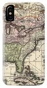 Vintage Map Of America - 1720 IPhone Case