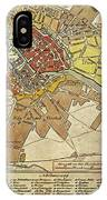 Vintage Map Of Berlin Germany - 1789 IPhone Case