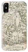 Vintage Map Of Finland - 1740s IPhone Case