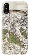 Vintage Map Of Flanders Belgium - 17th Century IPhone Case