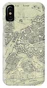 Vintage Map Of Geneva Switzerland - 1825 IPhone Case