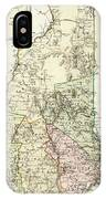 Vintage Map Of New Hampshire - 1796 IPhone Case