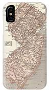 Vintage Map Of New Jersey - 1845 IPhone Case