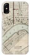 Vintage Map Of New Orleans Louisiana - 1845 IPhone Case