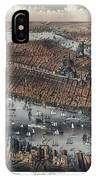 Vintage Map Of New York And Brooklyn Circa 1875 IPhone Case
