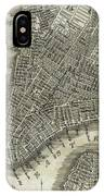 Vintage Map Of New York City - 1842 IPhone Case