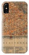 Vintage Map Of Nice France - 1914 IPhone Case