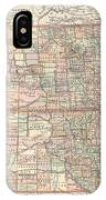 Vintage Map Of North And South Dakota - 1891 IPhone Case