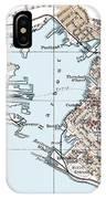 Vintage Map Of St. John New Brunswick - 1894 IPhone Case