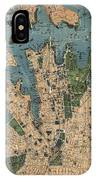 Vintage Map Of Sydney Australia - 1922 IPhone Case