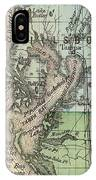 Vintage Map Of Tampa Florida - 1870 IPhone Case