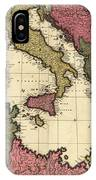Vintage Map Of The Mediterranean - 1695 IPhone Case