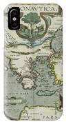 Vintage Map Of The Mediterranean Sea - 1608 IPhone Case