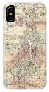 Vintage Map Of The Puget Sound - 1891 IPhone Case