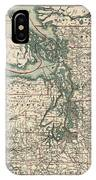 Vintage Map Of The Puget Sound - 1910 IPhone Case