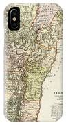 Vintage Map Of Vermont - 1797 IPhone Case
