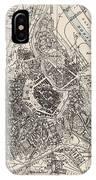 Vintage Map Of Vienna Austria - 1906 IPhone Case