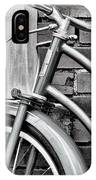 Vintage Montgomery Ward Bicycle 6 - B/w IPhone Case
