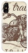 Vintage Motorcycling Mancave-a IPhone Case