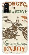 Vintage Motorcycling Mancave-c IPhone Case