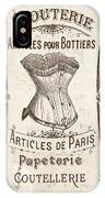 Vintage Paris Corsette Sign IPhone Case