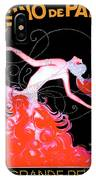 Vintage Paris Showgirl IPhone Case