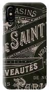Vintage Paris Sign IPhone Case