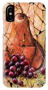 Vintage  Pear And Grapes Fresco   IPhone Case