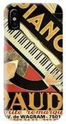 Vintage Piano Art Deco IPhone Case