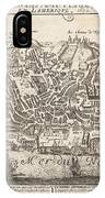 Vintage Pictorial Map Of New York City - 1672 IPhone Case