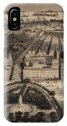 Vintage Pictorial Map Of New York City - 1840 IPhone Case