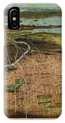 Vintage Pictorial Map Of Newark Nj - 1916 IPhone Case