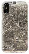 Vintage Pictorial Map Of Syracuse New York - 1874 IPhone Case