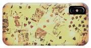 Vintage Poker Card Background IPhone Case