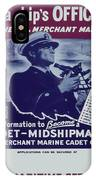 Vintage Poster - Be A Ship's Officer IPhone Case