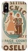 Vintage Poster Old Settlers Picnic IPhone Case