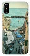 Vintage Riomaggiore Cinque Terre Italy IPhone Case