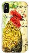 Vintage Rooster Portrait    IPhone Case