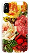 Vintage Rose I IPhone Case by Kim Kent