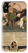 Sweaters Sportcoats And Stockings Vintage Soap Ad 1917 Winter IPhone Case